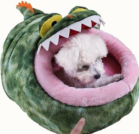 idepet (TM) forma de cocodrilo, mascota perro gato cama cachorro de perro de