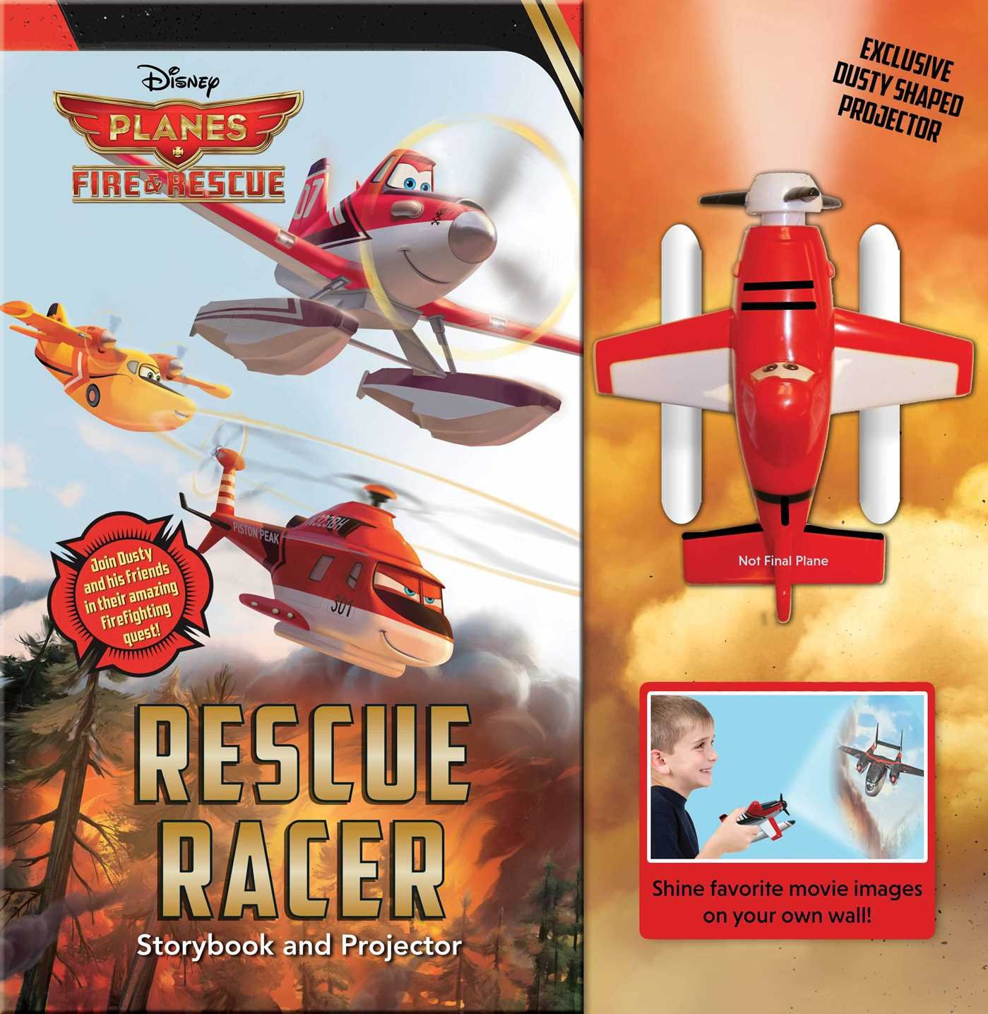 Read Online Disney Planes Fire & Rescue: Rescue Racer: Storybook with Movie Projector (Movie Theater) pdf epub
