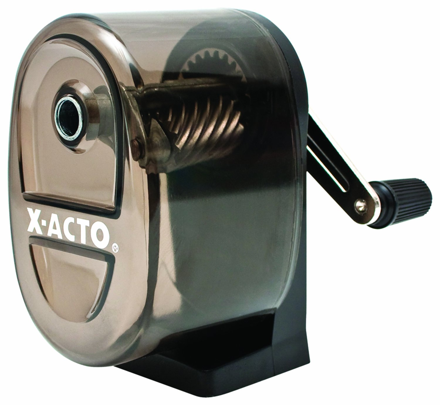 X-ACTO Boston Table-Mount/Wall-Mount Manual Pencil Sharpener, Black (1083) by X-Acto
