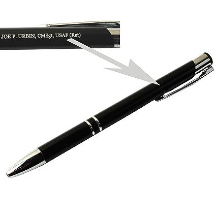Gp Custom Pens Engraved Pens Personalized Ballpoint Metal Laser Engraving Gift Birthday Black