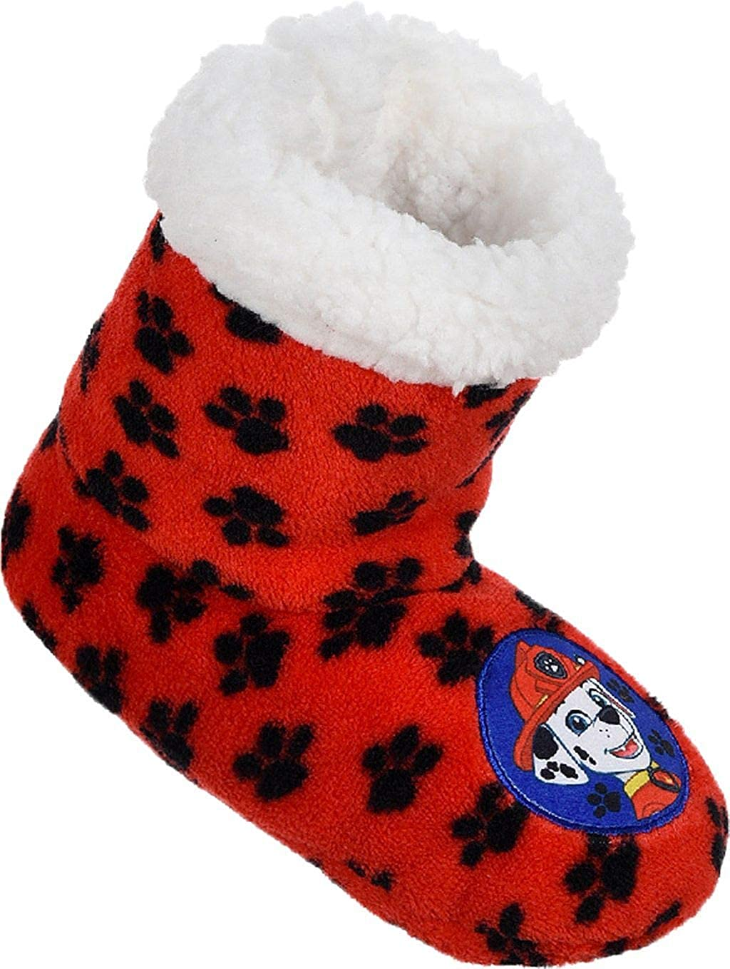Paw Patrol Boys Chase and Marshall Coral Fleece Boot Style Slipper Set