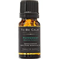 To Be Calm Peppermint Single Essential Oil, 10ml,Black