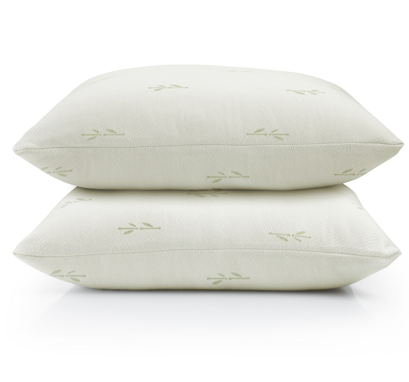 Home Fashion Designs 4-Pack Ultra-Luxury Eco-Friendly Bamboo Zippered Pillow Protectors. Naturally Allergy, Dust Mite & Bed Bug Resistant. Anti-Microbial & Sustainable Pillow Covers. (Standard)