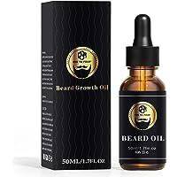 Beard Growth Oil, Naturally Beard Growth Serum Promote Hair Regrowth, Full, Thick, Masculine Facial Hair Treatment for…