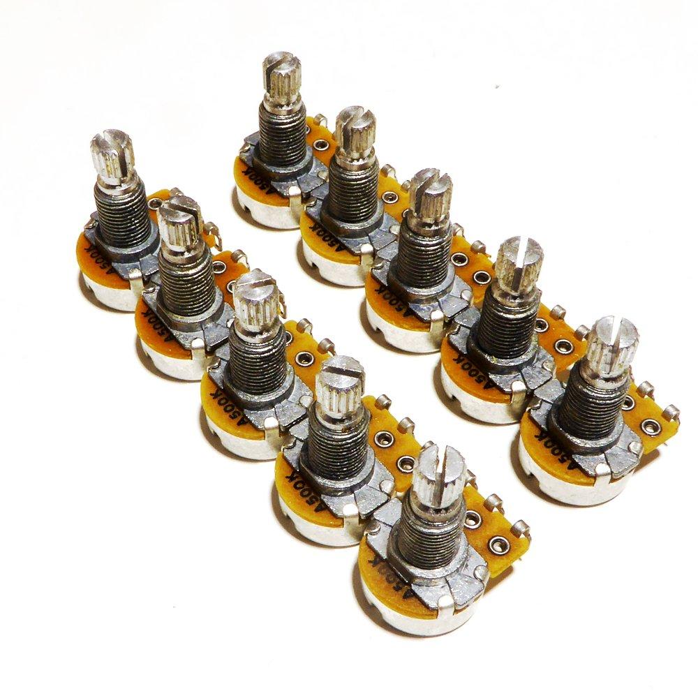 10 potenciómetros de leña A500K para guitarra, 24 mm de diámetro ...