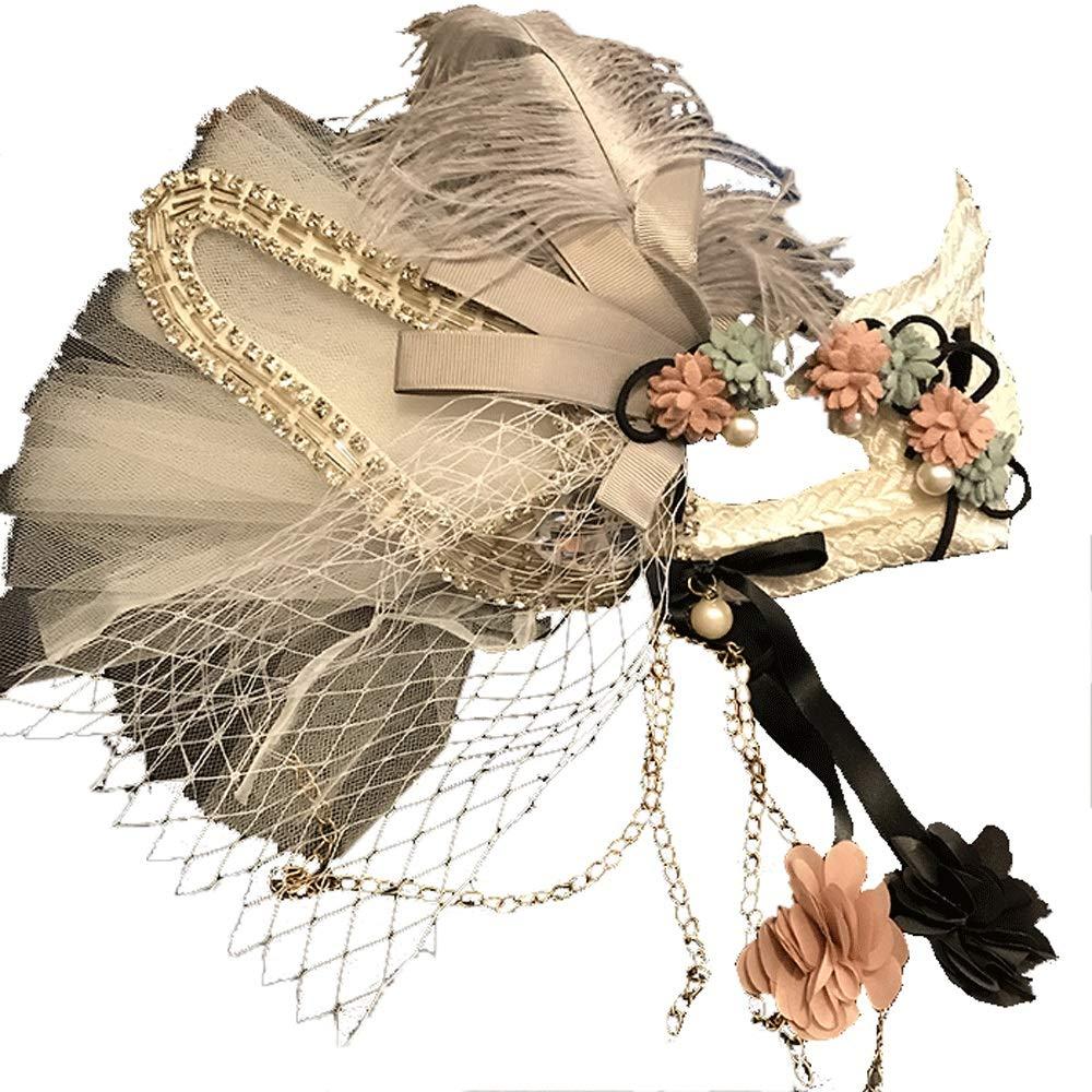 Nanle Weiße Mangel & Blume venezianische Maskerade Carnivl Party Augenmaske