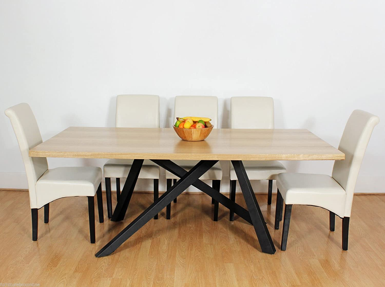 FurnitureboxUK® Milano Designer Modern Room Table Chairs, Faux Leather, White, Set of 4 140308