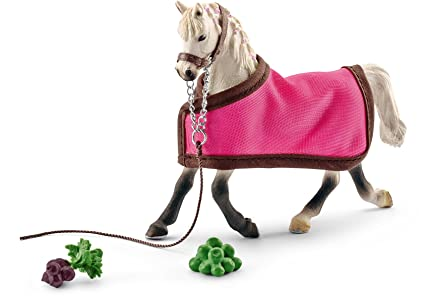 English Thoroughbred Horse Toy Figure & Blanket Schleich Horse Club Action Figures