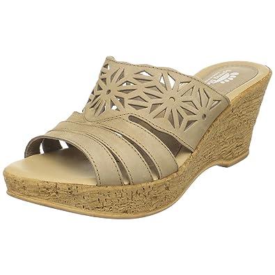 Spring Step Women's Dora Wedge Slide Sandal, Beige, ...