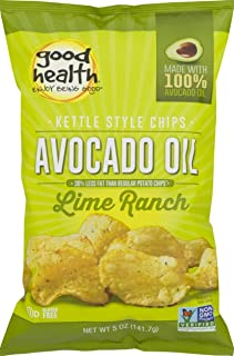 product image for Good Health Avocado Oil Kettle Style Lime Ranch Chips 5 oz. Bag (3 Bags)