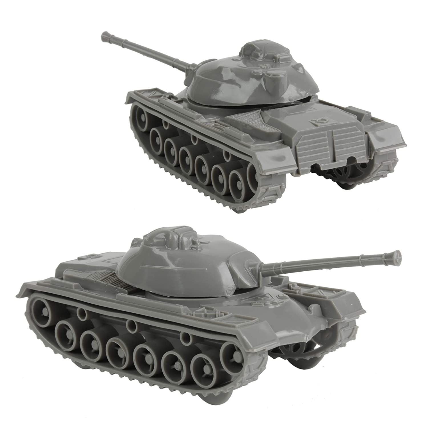 TimMee Toy Tanks for Plastic Army Men Gray WW2 3pc Made in USA