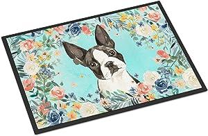 Caroline's Treasures CK3433MAT Boston Terrier Indoor or Outdoor Mat 18x27, 18H X 27W, Multicolor