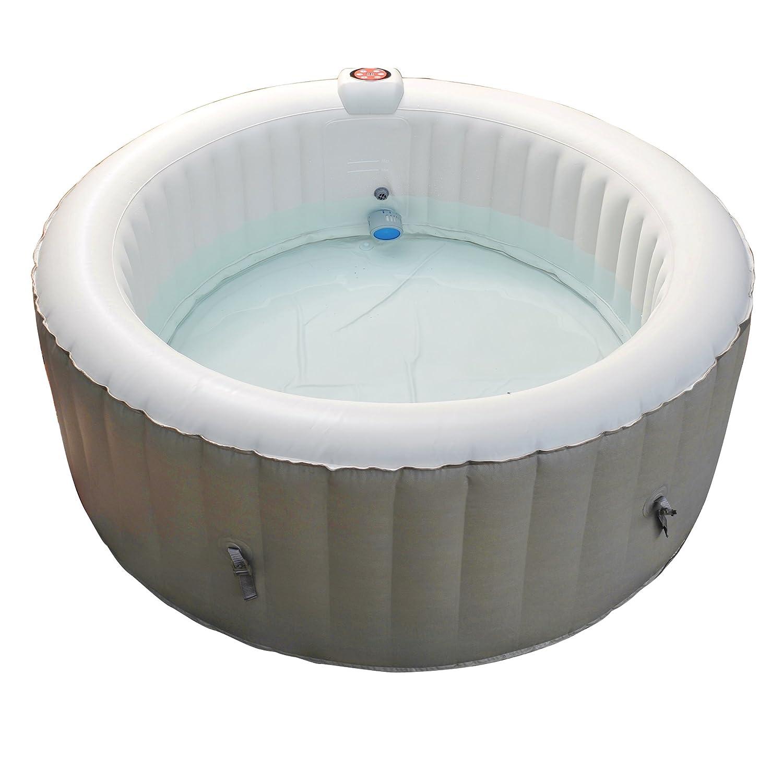 Bañera de hidromasaje hinchable Nemaxx SPA180-P, 180 Cm, 800 l (máximo 4 plazas), control digital, calefactor de 1200 W, 130 puntos de masaje, ...