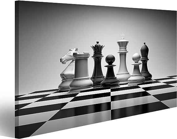 islandburner Cuadro Cuadros Composición con Piezas de ajedrez sobre Tablero Brillante Genial y Muy Bonito FGC: Amazon.es: Hogar