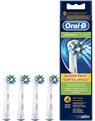 Oral-B CrossAction - Set de 4 recambios para cepillo de dientes eléctrico recargable (