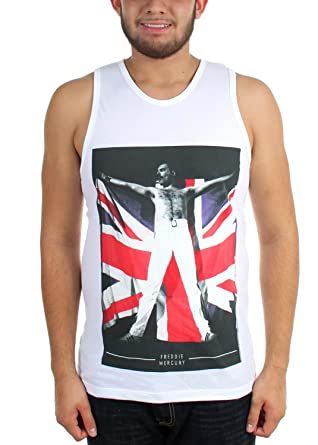 7fd58df562578 Freddie Mercury - Mens Freddy Flag Tank Top at Amazon Men s Clothing ...
