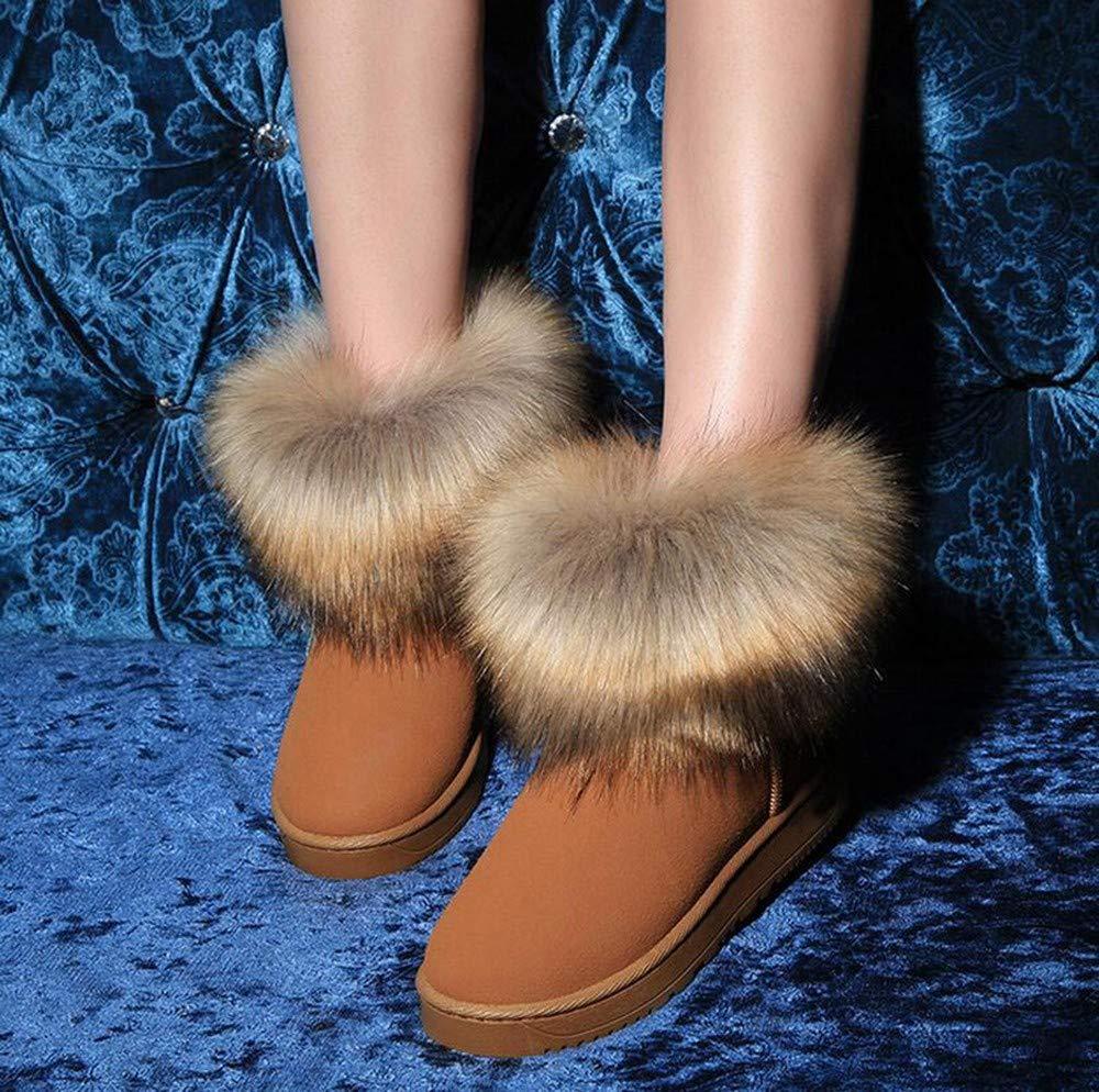 QBSOE Botas De Nieve Botas De Nieve Nieve Nieve De Otoño E Invierno De Mujer Calientan Botas Cortas De Algodón Mujer Zapatos Planos Antideslizantes Impermeables, A, 40 8d3ccc