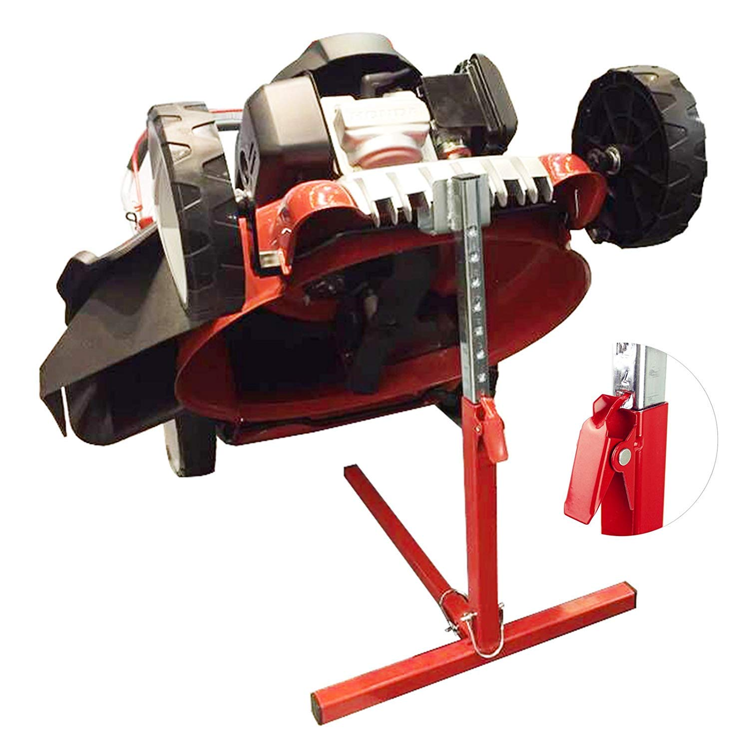 Push Lawn Mower Lift Tools, COPACHI Garden High Duty Holder for Push Mower Lawn With Hight Control Key and Lawn Mower Clearance--22''Hight/110lb Weight Capacity and Keep With 3 Year Warranty