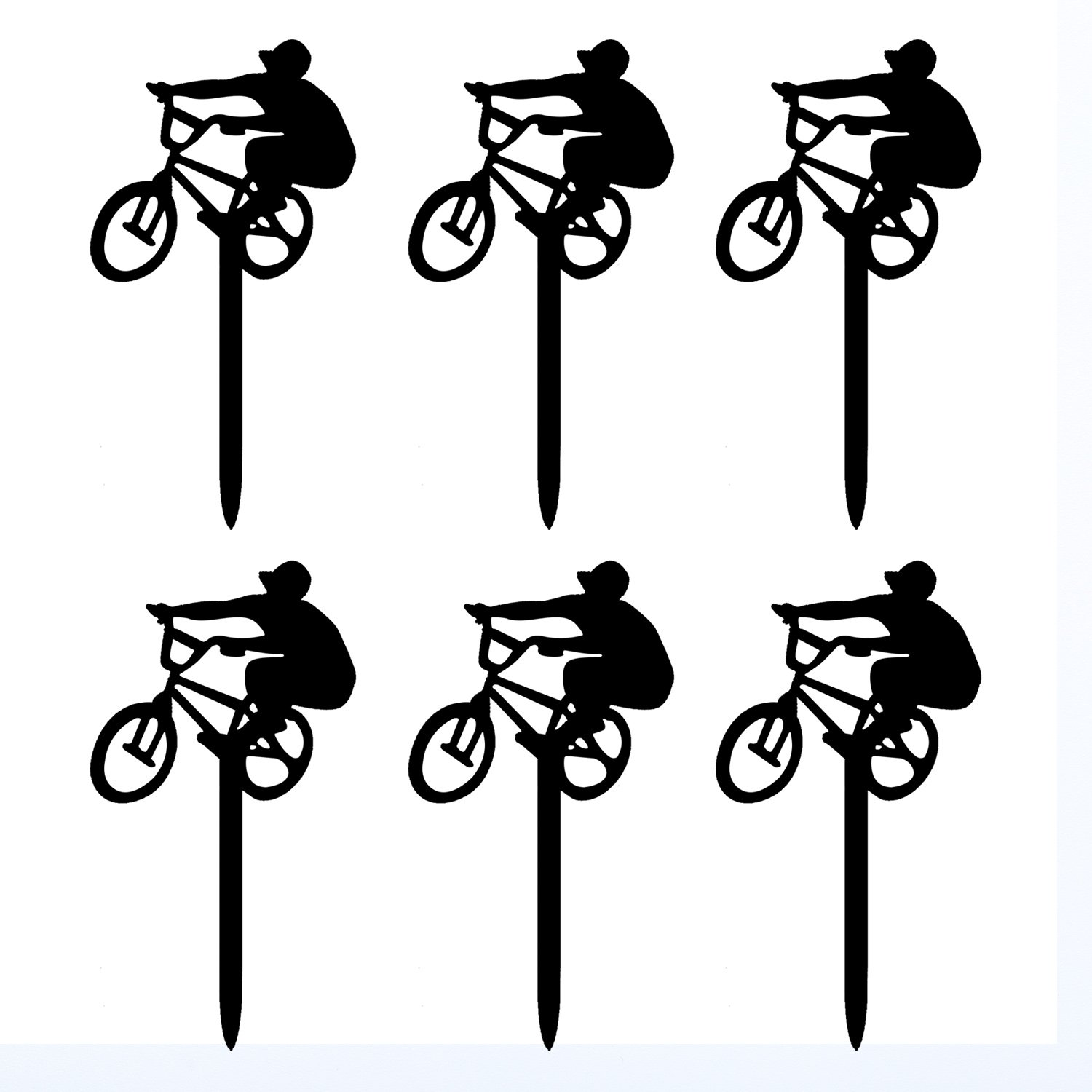 Amazon.com: Ecape Cupcake Toppers,Bicycle Acrylic Toppers For Bridal ...