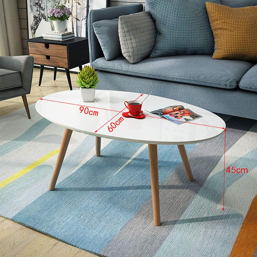 Garde Side Table, Simple Mini Bedroom Modern Home Small Coffee Table, Solid Wood Creative Casual Negotiation Small Table (Size : 906045CM) by Garde