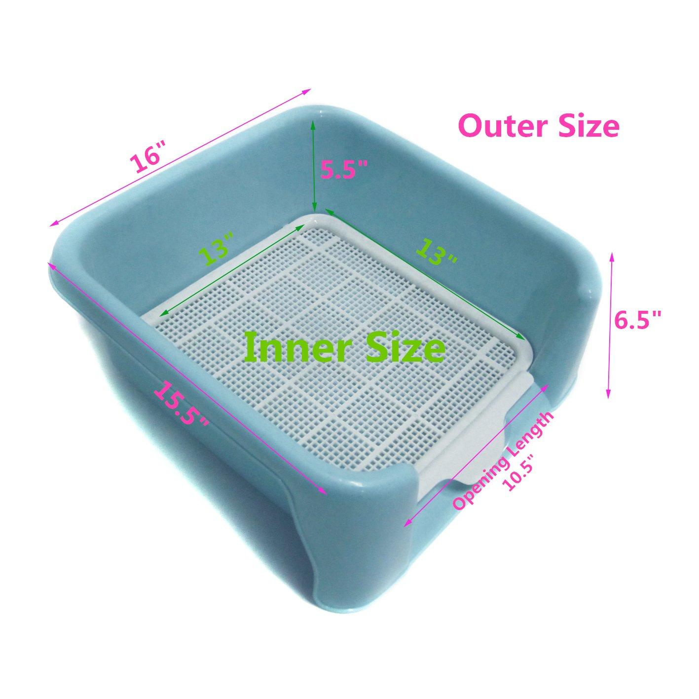 favorite dog plastic training tray potty high