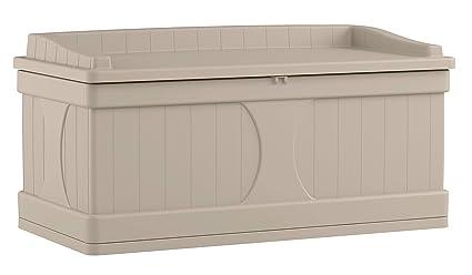 amazon com suncast 99 gallon patio storage box large waterproof rh amazon com