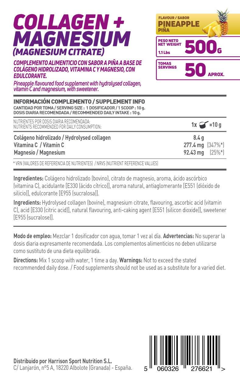 HSN Essentials - Colágeno Hidrolizado + Magnesio 2.0 - Sabor Piña - En Polvo 500 g: Amazon.es: Alimentación y bebidas