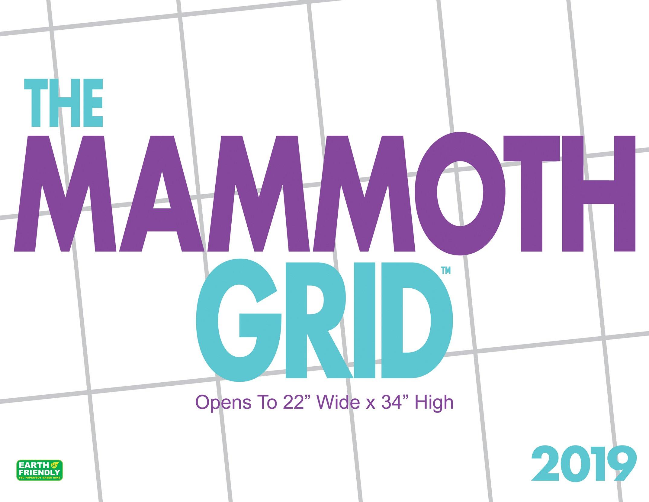 mammoth grid 2019 wall calendar
