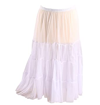 588243583a5519 Charleselie94® - Jupe Grande Taille Tulle Volants Blanc LOUANE Blanc ...