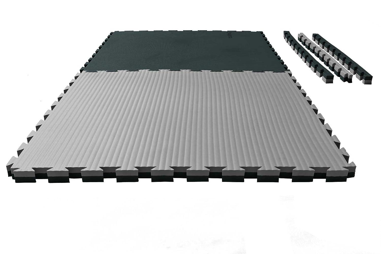 Ju-Sports Puzzlematte Tatami 4 cm schwarz/grau Wendematte