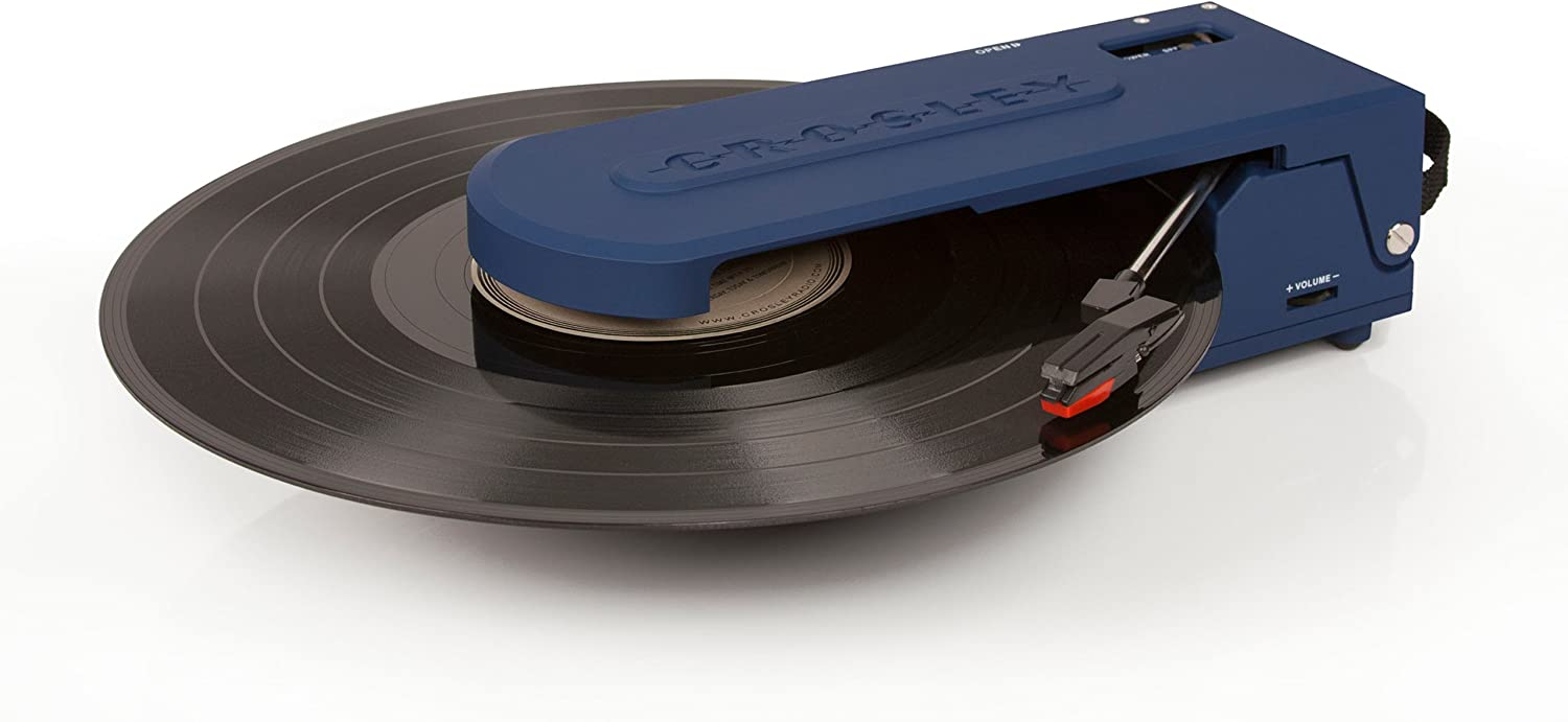Crosley CR6020A-BL Revolution Portable USB Turntable with Software for Ripping & Editing Audio, Blue