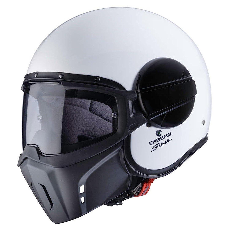 Caberg Ghost Motorrad Jet Helm Weiß Pinlock Visier Maske Chopper Fiberglas ECE22-05, C4FA00A1, Größe S: Amazon.es: Coche y moto