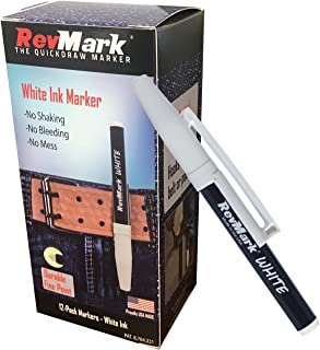 product image for RevMark White Ink Industrial Marker - 12 Pack (Made in the USA)