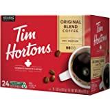 Tim Hortons Original Blend, Medium Roast Coffee, Single-Serve K-Cup Pods Compatible with Keurig Brewers, 24ct K-Cups