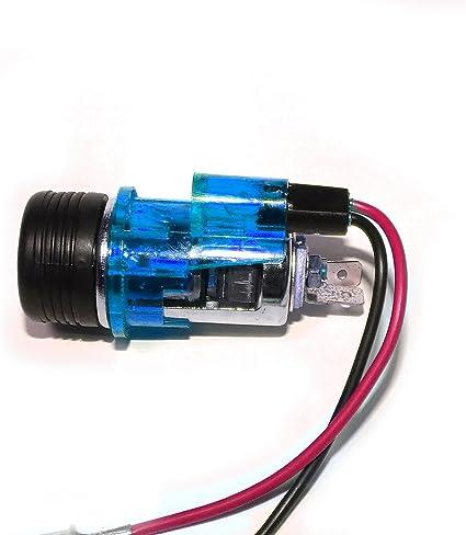 24V beleuchtet KFZ Stecker PKW Auto Universel Zigarettenanzünder Einbau 12V