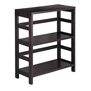 Winsome Wood 92326 Leo Model Name Shelving Small and Large Espresso