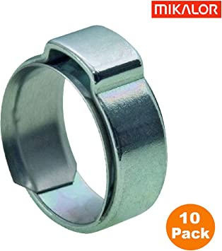 100 Single Ear Hose Clamps 7 Pack Sizes Available 36.1 mm Oetiker Stepless Size 1-7//16 Ear Clamps