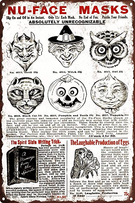 Amazon com: onepicebest 1920s Halloween Mask Ad Devil Witch
