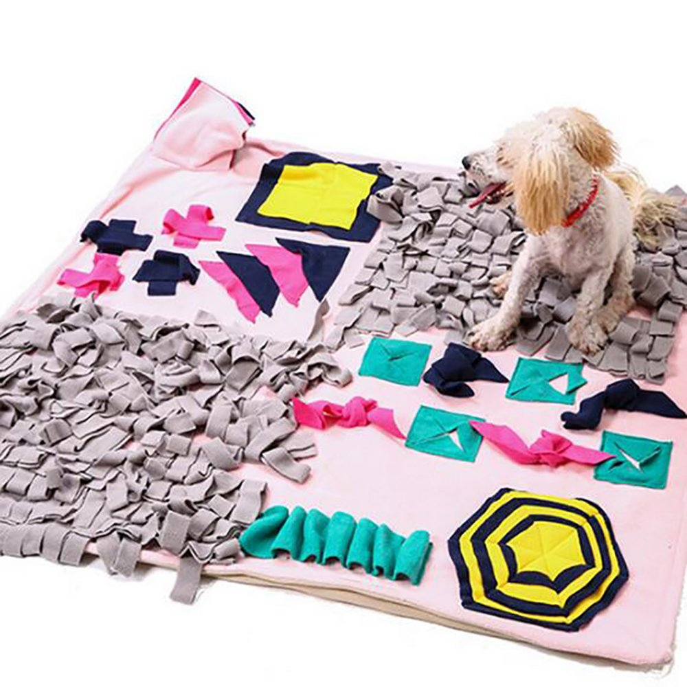 Dononna Wooly Snuffle Mat Pet Sniffing Pad Nosework Blanket Dog Training Mats Dog Feeding Mat Pet Activity Mat Great for Stress Release (27.6'' x 39.4'')