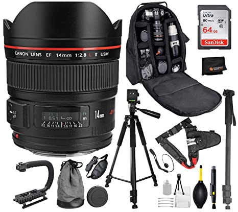 Amazon com : Canon EF 14mm f/2 8L II USM Lens with