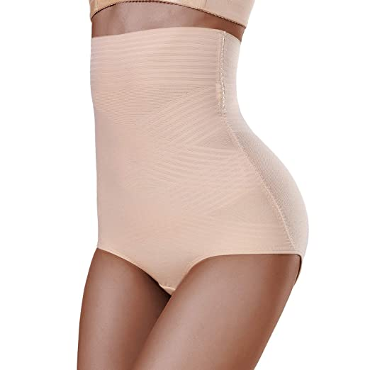 c06751eb4cd3 SKYFOXE Women's Ultra Thin High Waisted Shapewear Panties - Body Shaper  Underwear with Tummy Control-