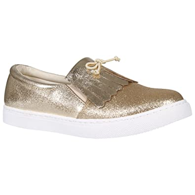 Damen Sneaker, Gold - Gold - Größe: 42 Shelikes