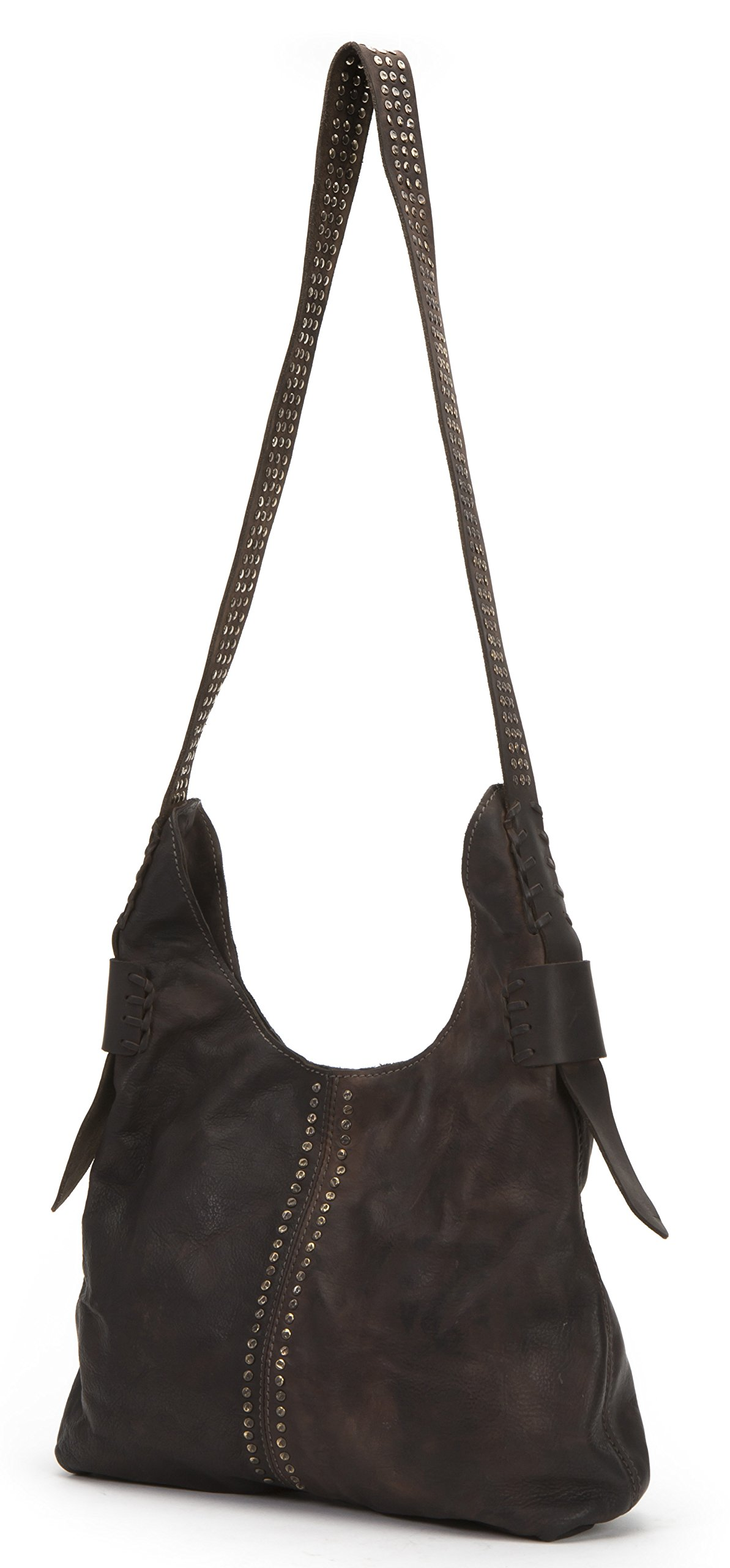 FRYE Samantha Studded Hobo, Chocolate by FRYE (Image #1)