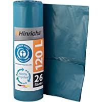 Hinrichs Bolsas de Basura 120 L – Gran Resistencia al desgarro – Rollo de 25 – Tipo 100 Extra – Sacos de Basura XXL…