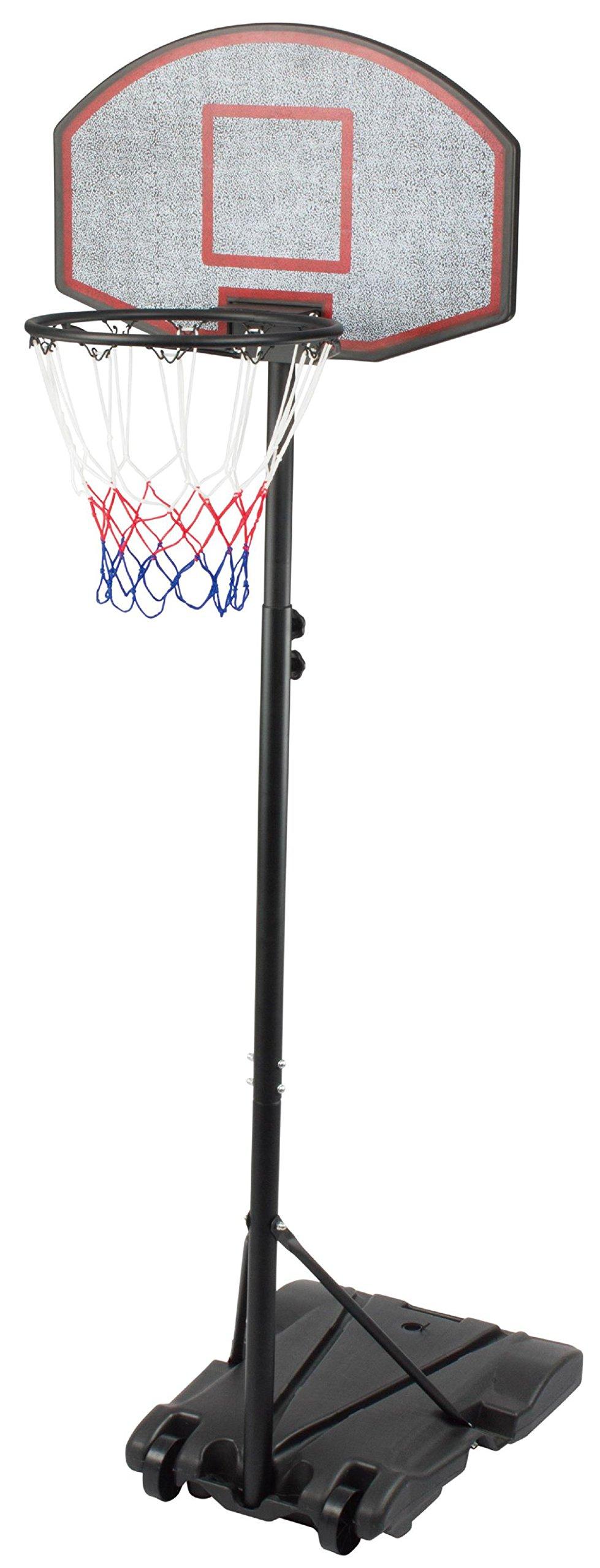 KLB Sport Adjustable Portable Youth Basketball Hoop (Black)