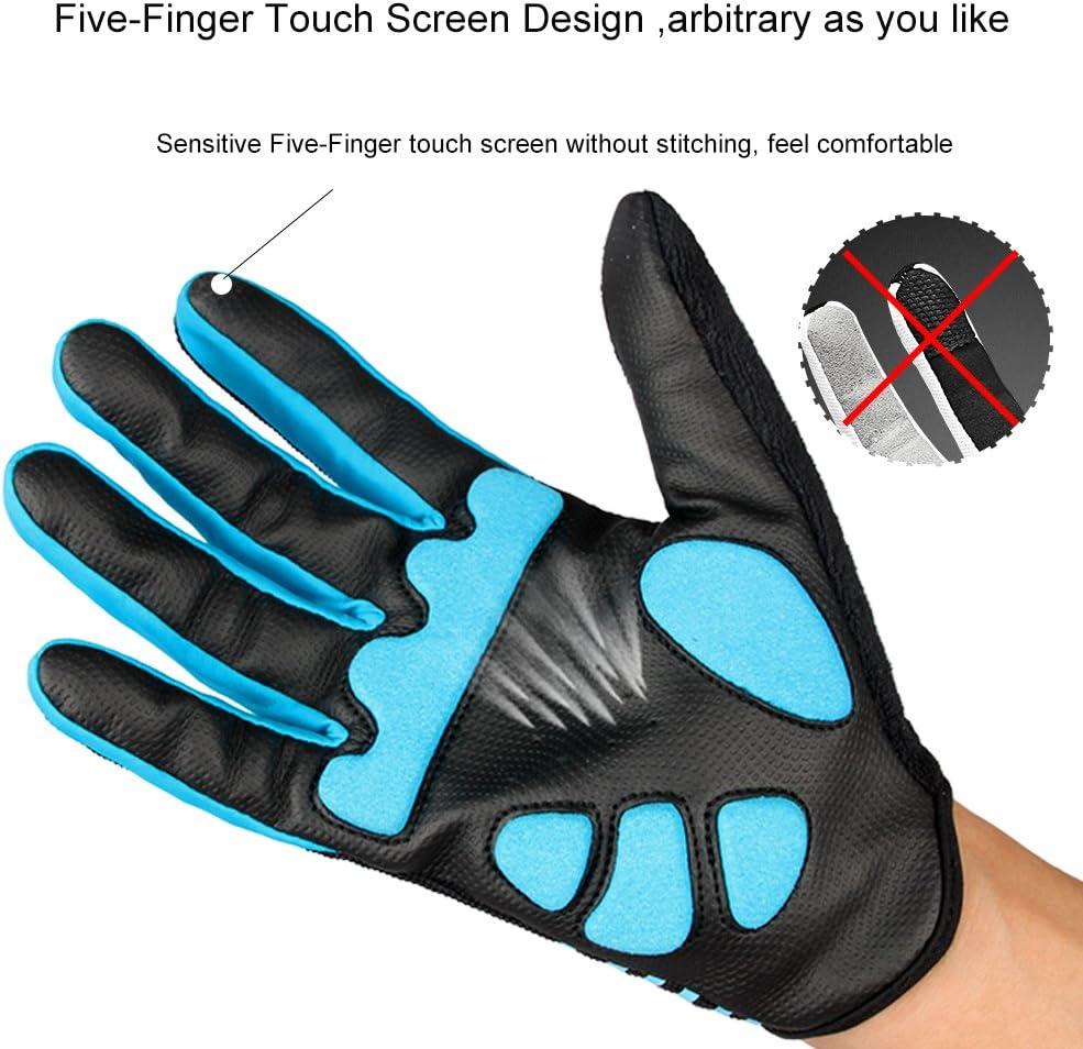 de Dedo Completo Acolchados de Gel para MTB FLYILY Guantes de Ciclismo Unisex compatibles con Pantallas t/áctiles