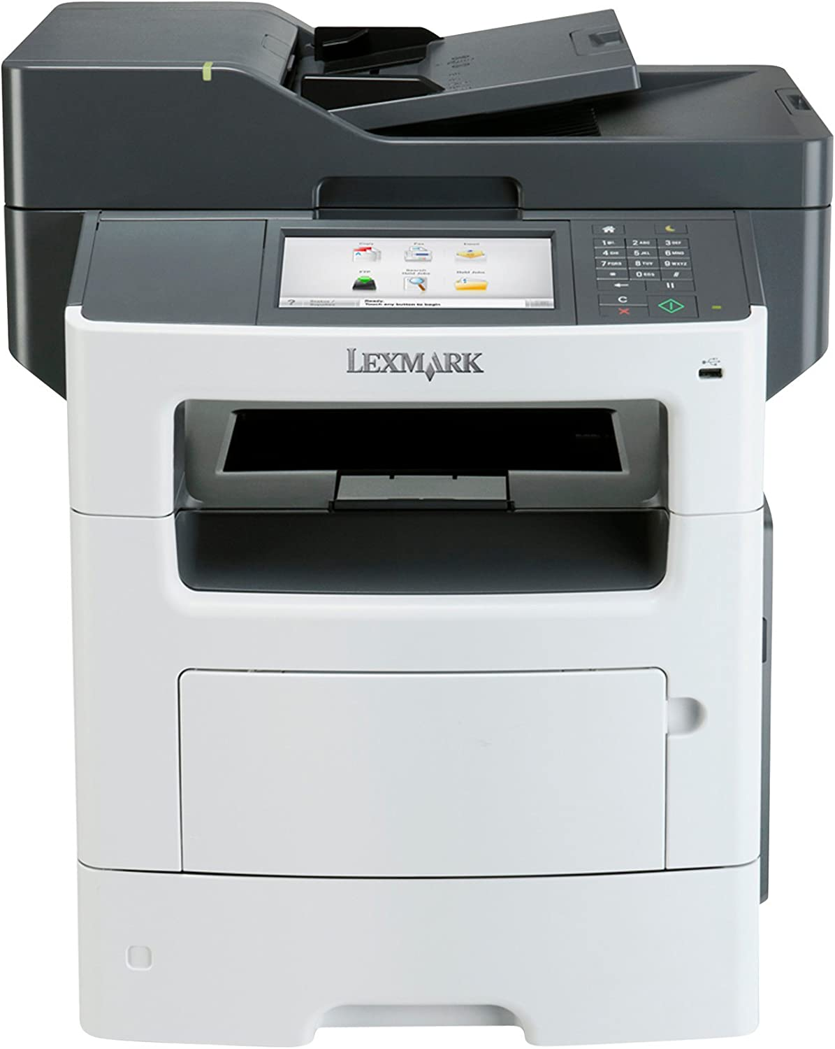 Lexmark MX611DE Monochrome Printer with Scanner, Copier and Fax - 35S6701,Gray/white