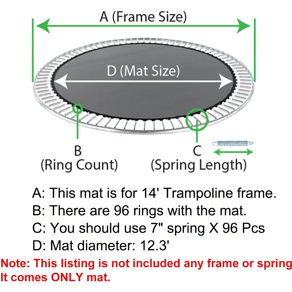 Amazon.com: Jumping Mat Repuestos para 14 ft Ronda marco del ...
