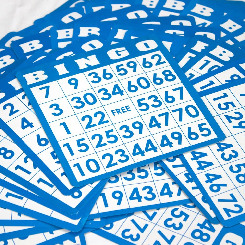 50 Pack of Bingo Cards with Unique Numbers All Different!
