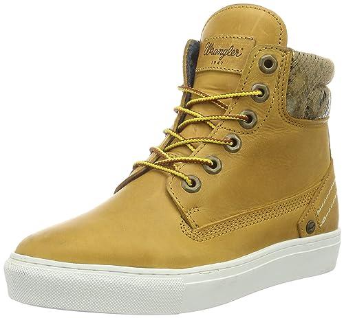 Wrangler Historic - botas de caña baja con forro cálido y botines Mujer, Amarillo - Gelb (24 Tan Yellow), EU 37: Amazon.es: Zapatos y complementos